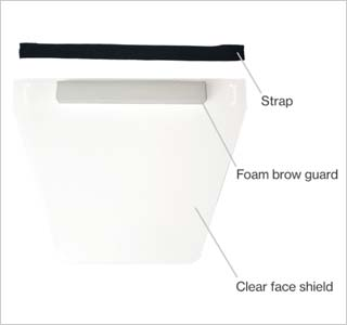 HexArmor®'s Personal Protective Equipment Faceshield with elastic band and foam forehead pad