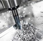 복잡한 형상으로 알루미늄 판을 가공하는 CNC