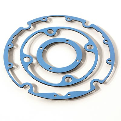 Complex Blue Rubber Gasket Pad, engineered materials and sealing solutions from Boyd Corporation