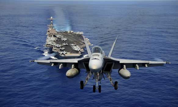 Aircraft Carrier and Fighter Jet