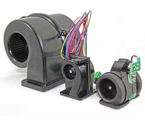 Boyd's High Performance Double Width Double Inlet blowers between 40mm and 120mm