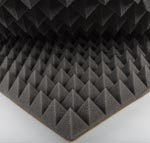 Foam as an acoustic insulator to absorb or block sound waves