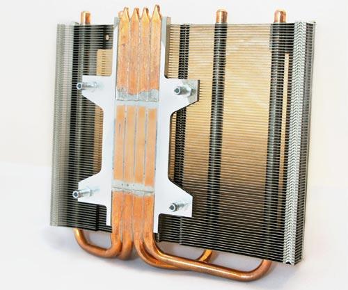 High Fin Efficiency Heat Pipe Montage mit Reißverschluss Fin Stack und Montageplatte