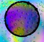 백색광으로 백라이트를 반사하고 물을 통해 전달되는 광 확산 시트