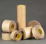 Slit laminating tapes on rolls