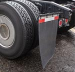 Commercial Vehicle Rubber Mud Flap near Tires