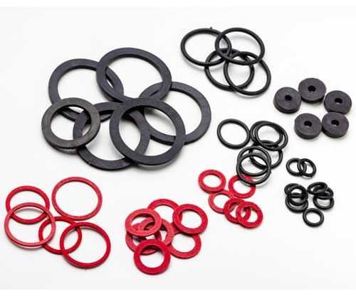 Square Rings, Flat Rubber Washers