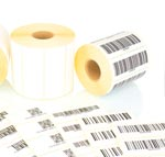 Printed Adhesive Sequential Barcode Labels on Rolls