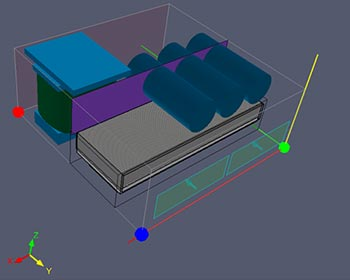 Interfaccia di modellazione 3D tradizionale per la modellazione di assiemi termici complessi