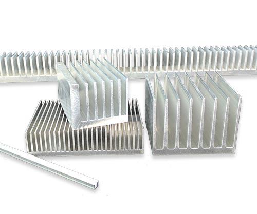Aluminum Heat Sink 180mm x 130mm x 60mm Height 15 Fins 6mm Thick Base