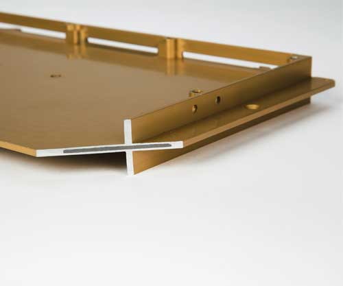 Gold Plated Encapsulated Graphite Heat Spreader Chassis Cross Section