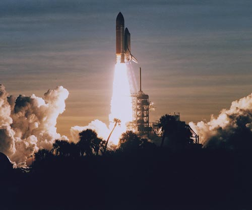Launch of Space Shuttle Discovery (STS-60)