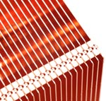 Copper Zipper Fin Stack for Increased Heat Transfer in Air Cooled Heat Sinks